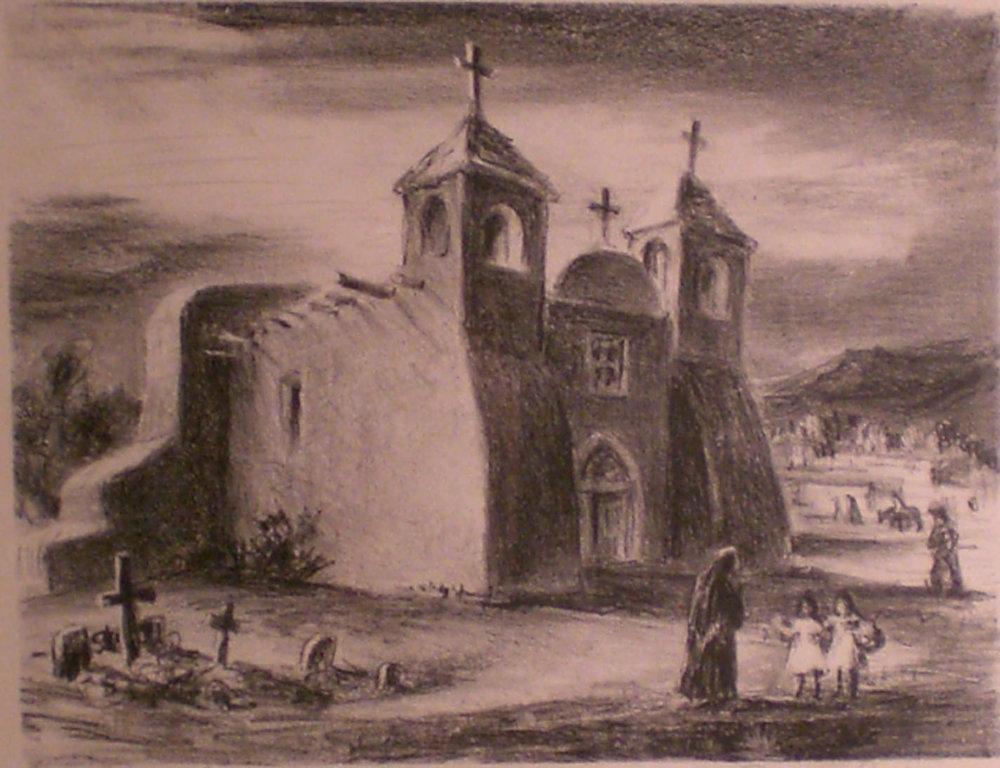 Ranchos Laos , 18 ½ x 15 ½  Bernard Geiser