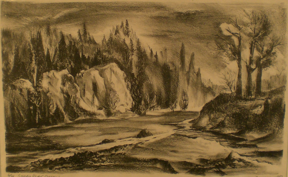 Sandy River, 24 x 18  Josephine Cameron