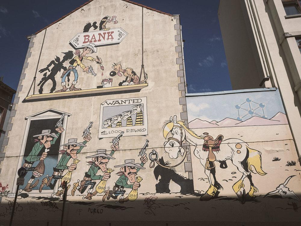 Die Comic Wände in Brüssel