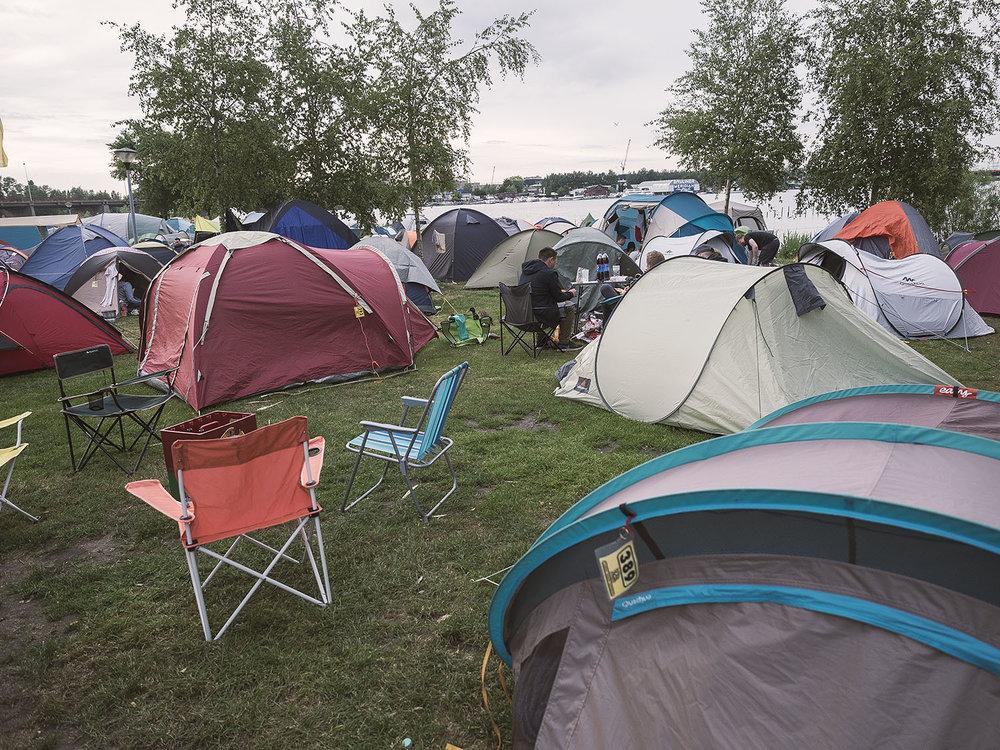Festivalstimmung auf dem Camping in Amsterdam