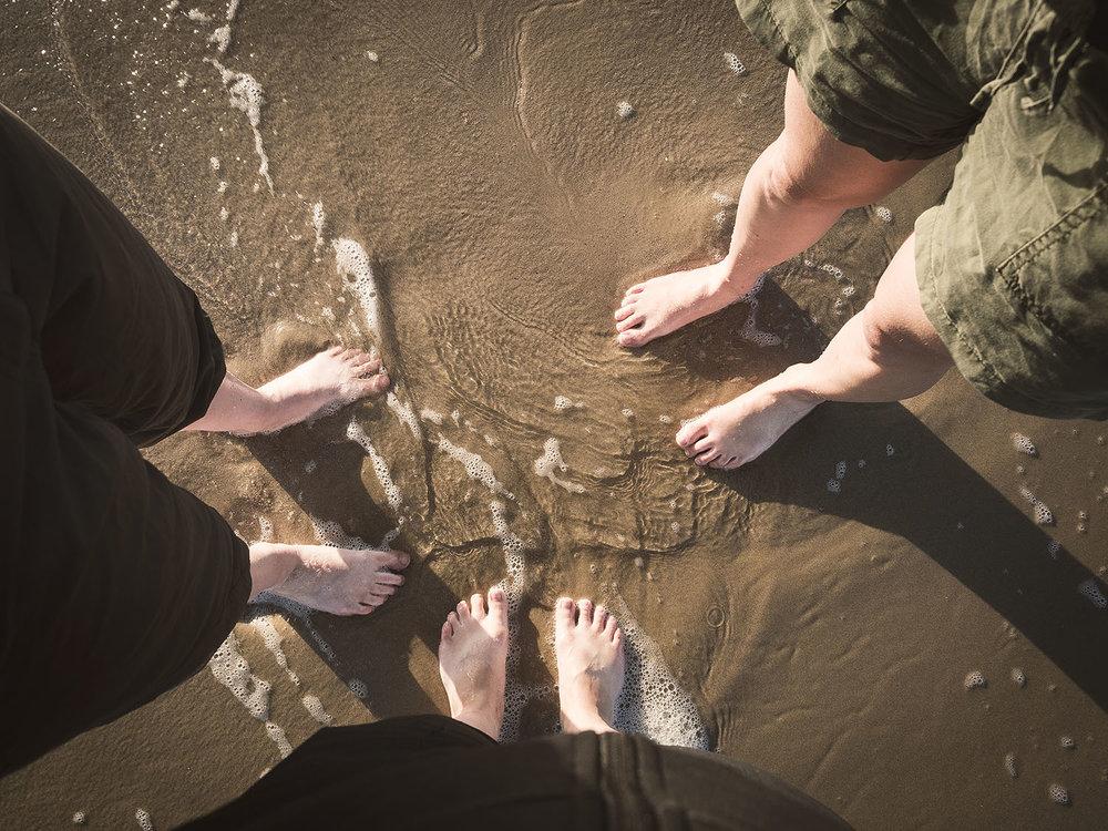 Endlich baden wir unsere Füsse in der Nordsee