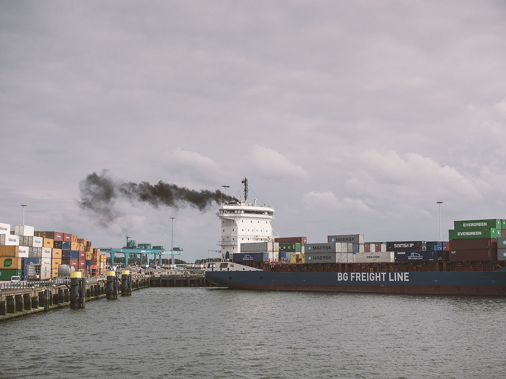 Der Hafen von Rotterdam