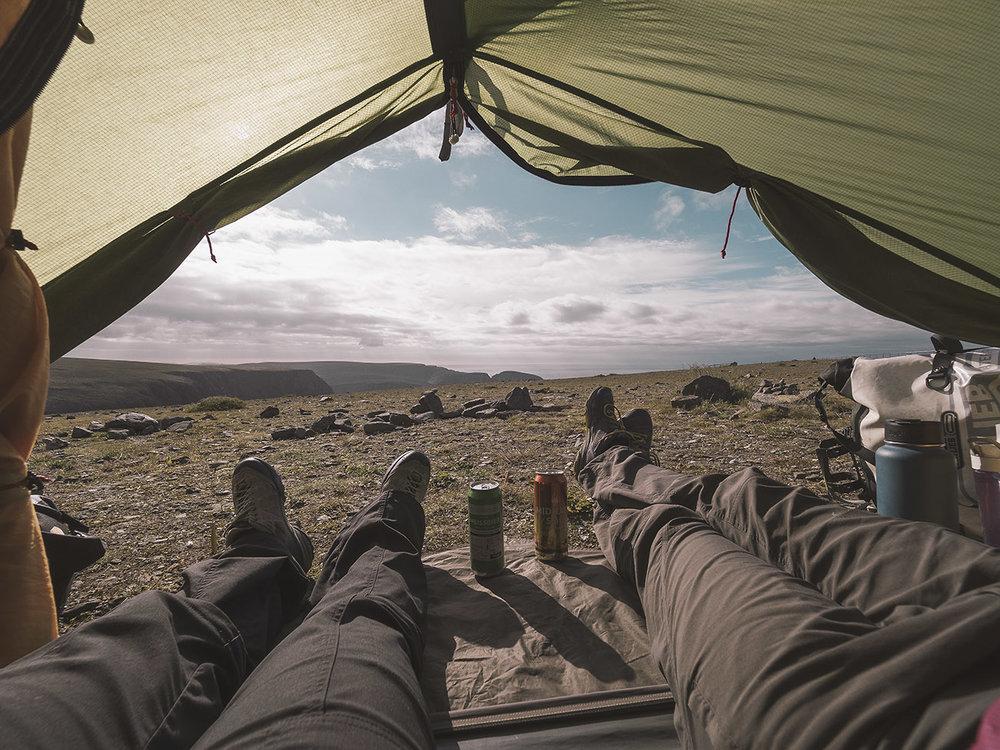 Aussicht vom Zelt