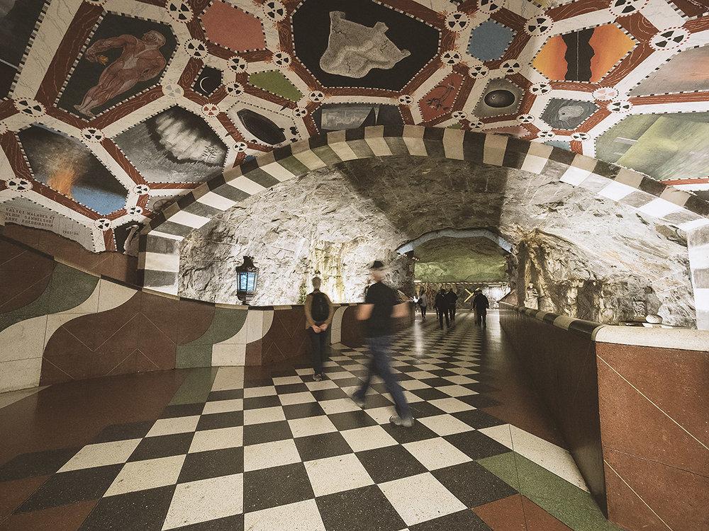 Die U-Bahn Stationen in Stockholm sind ein einziges Kunstwerk