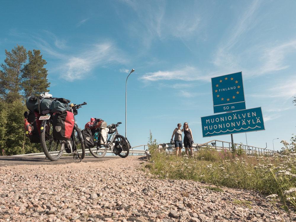 An der Grenze zu Finnland