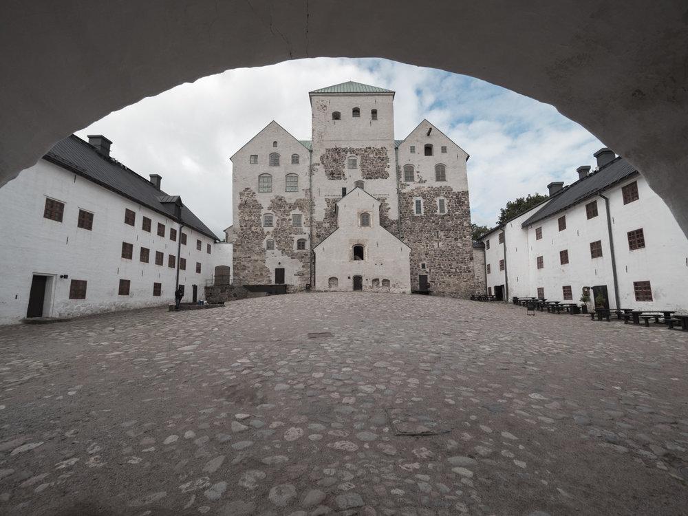 Burg von Turku, der ehemaligen Hauptstadt Finnlands