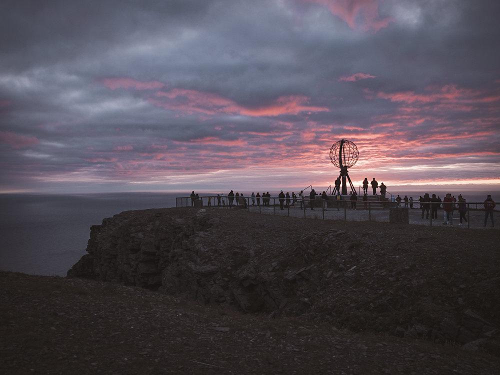 Sonnenaufgang am Nordkap