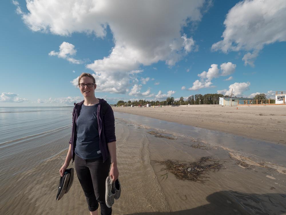 Am Strand von Pärnu