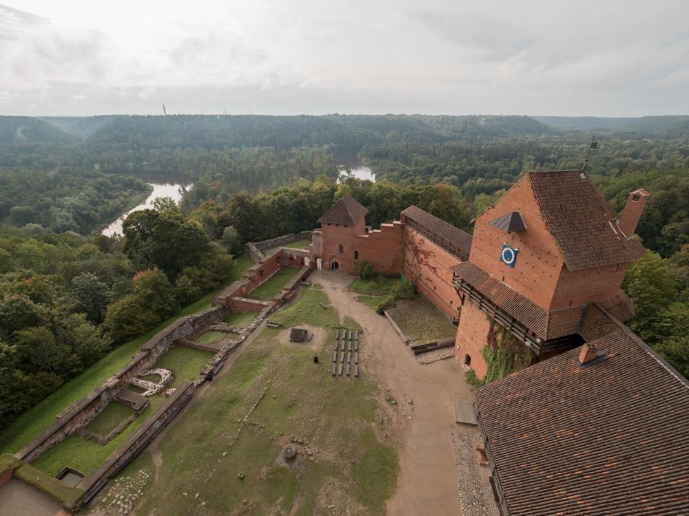 Aussicht vom Schloss Turaida
