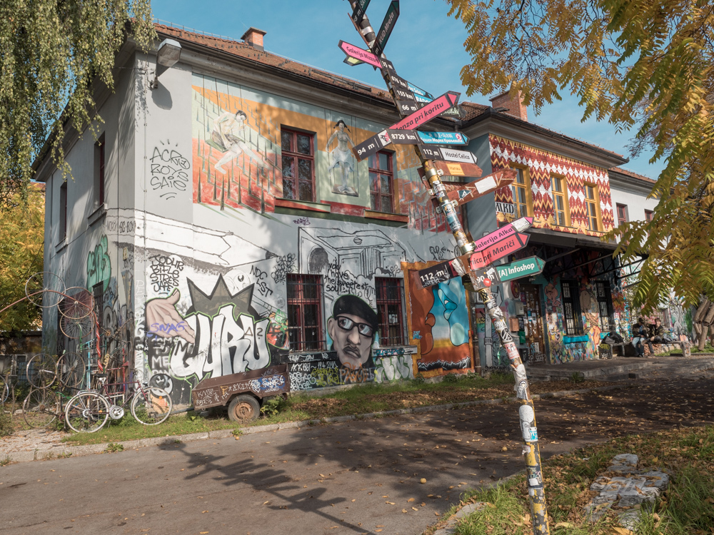 Metelkova, das alternative Quartier