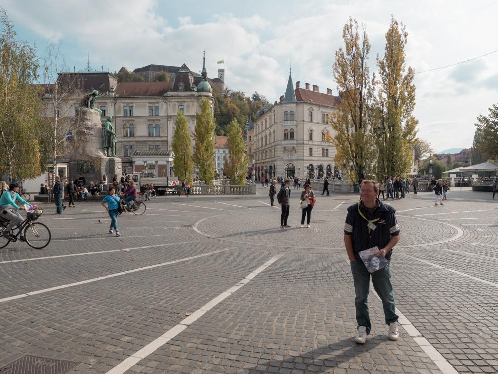 Presernov trg, der Hauptplatz von Ljubljana