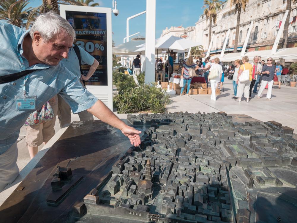 Miniaturansicht der Stadt Split mit unserem Guide Drago