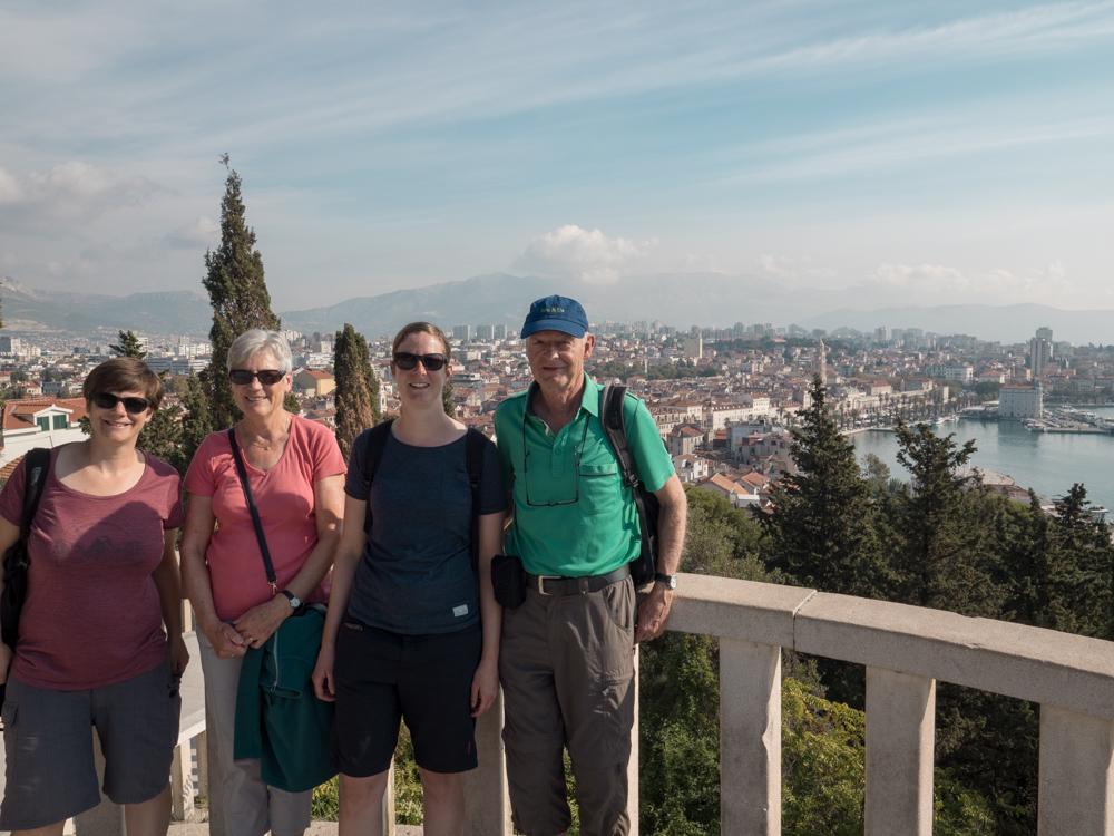Aussicht vom Marjan Park mit Sandras Eltern