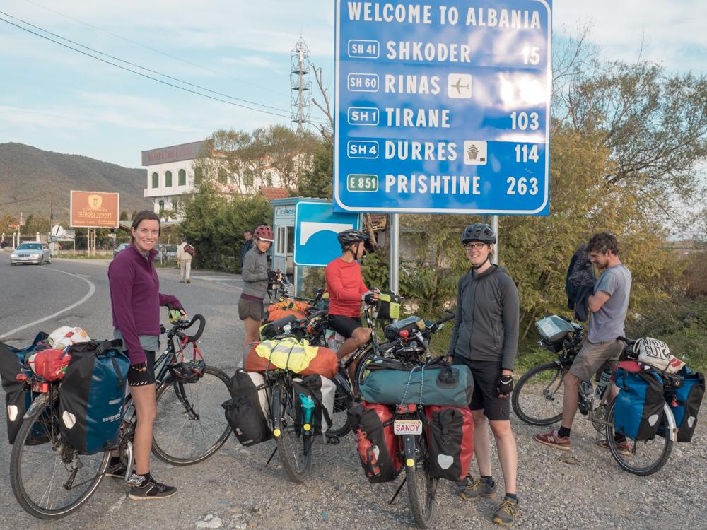 Ankunft in Albanien