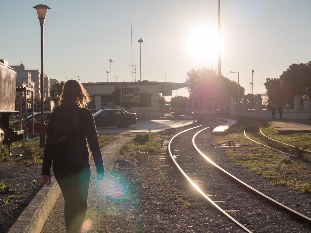 Der Bahnhof von Patras ist noch in Betrieb