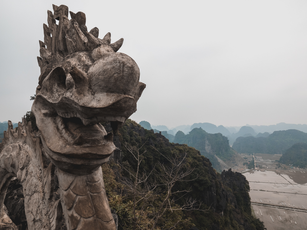 Oben beim Hang Mua Tempel bei Ninh Binh