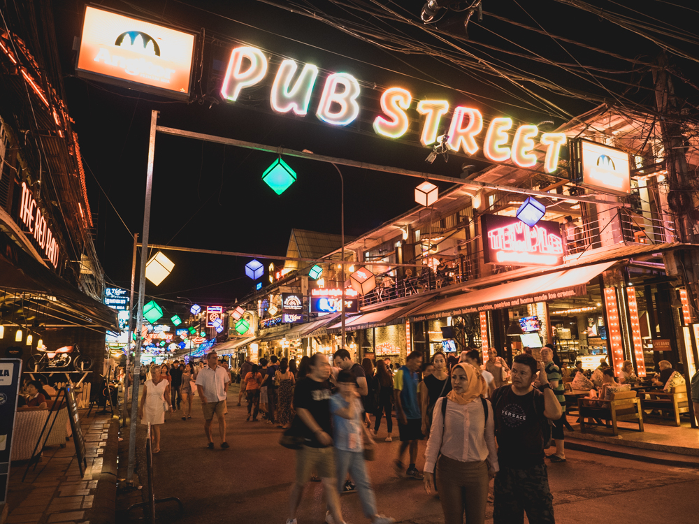 Die Pubstreet in Siem Reap