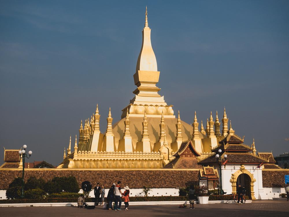 Das wohl bekannteste Wahrzeichen von Laos, der That Luang