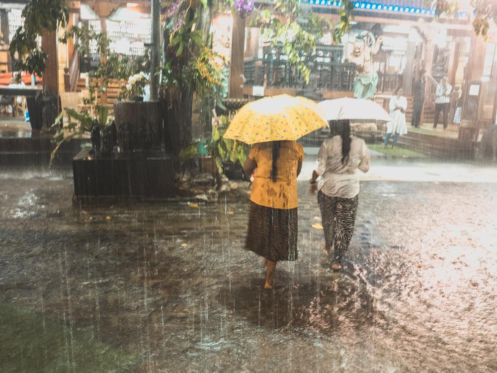 Wenns regnet, dann richtig