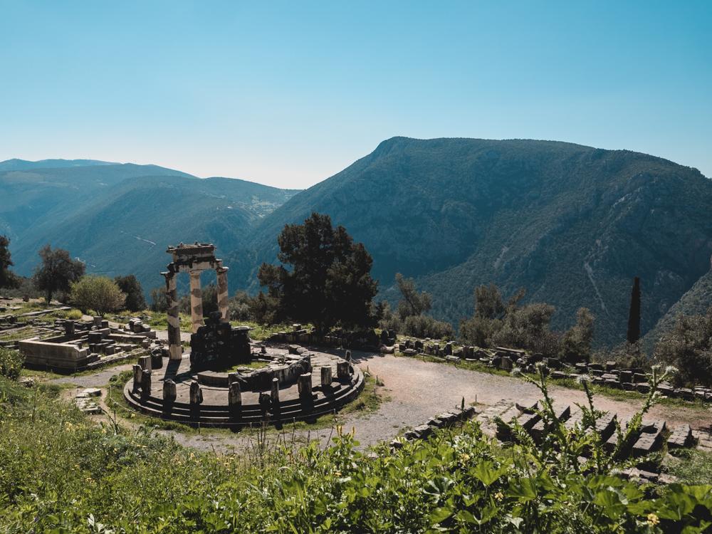 Tholos im Heiligtum der Athena Pronaia