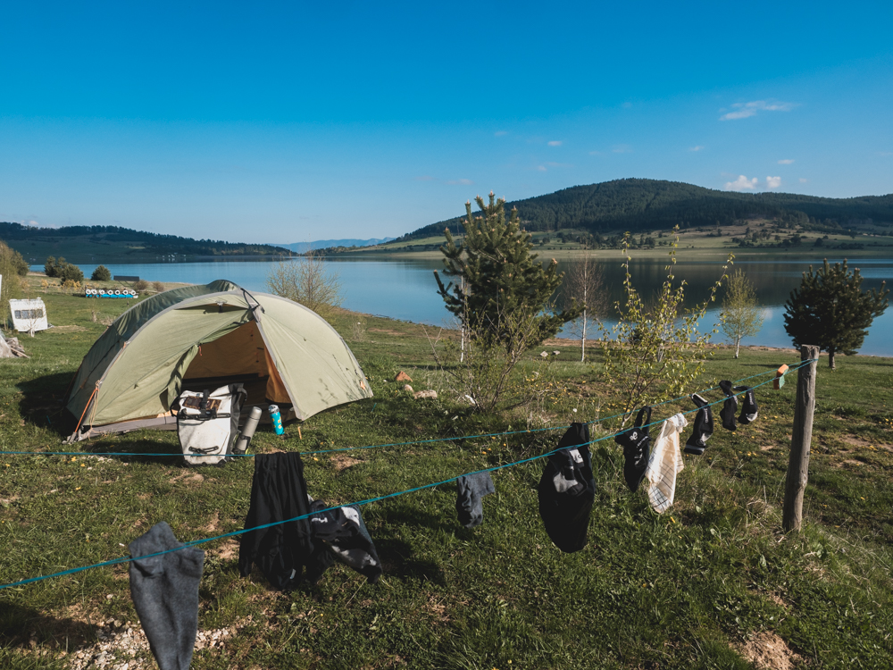 Auf dem schönsten Campingplatz Bulgariens, ganz allein