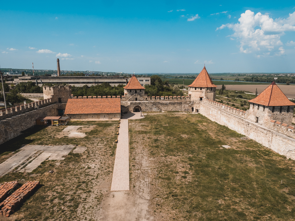 Die Burg von Bender in Transnistrien