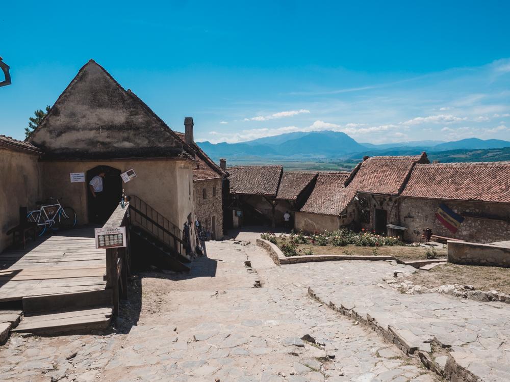 Hier noch das Schloss von Rasnov von innen