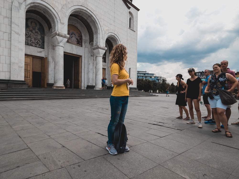 Auf der Tour durch Belgrad