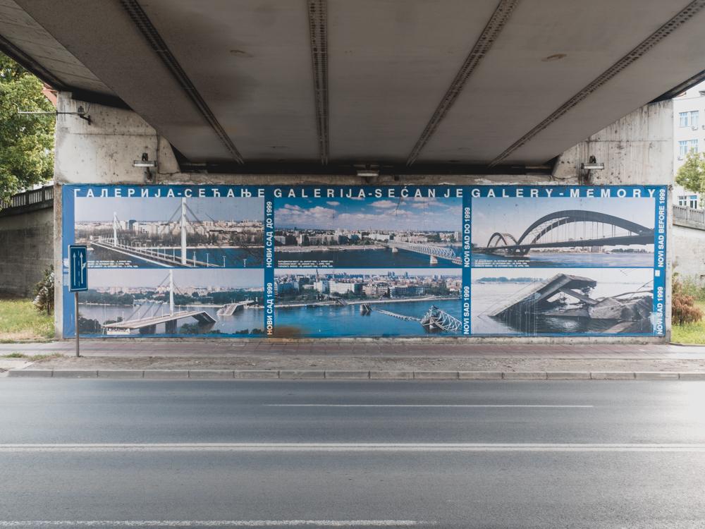 Bilder der zerstörten Brücken der NATO