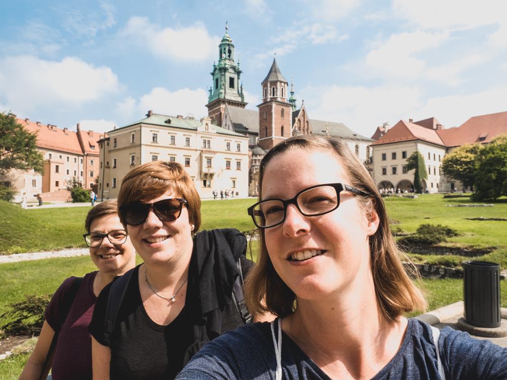 Beim Königsschloss Wawel