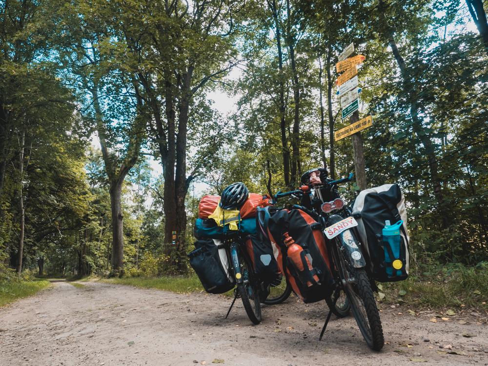 Ankunft in Tschechien über Waldwege
