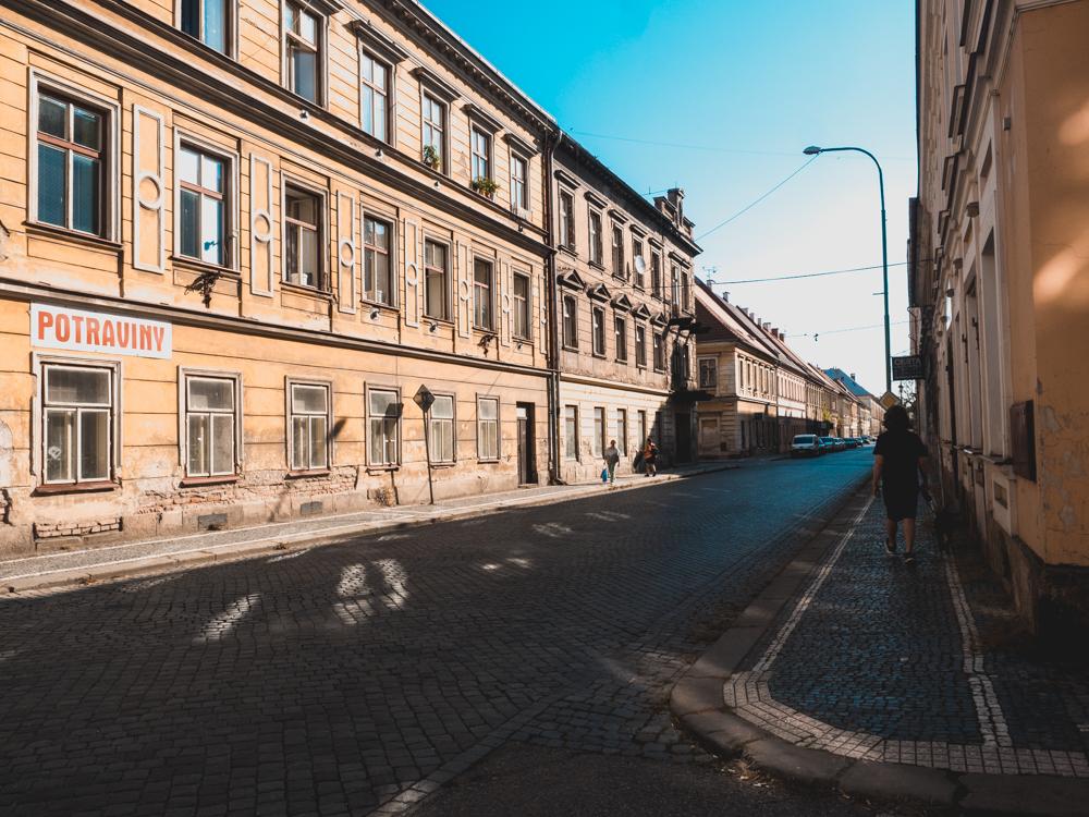 Die leeren Strassen der Militärstadt Josefov
