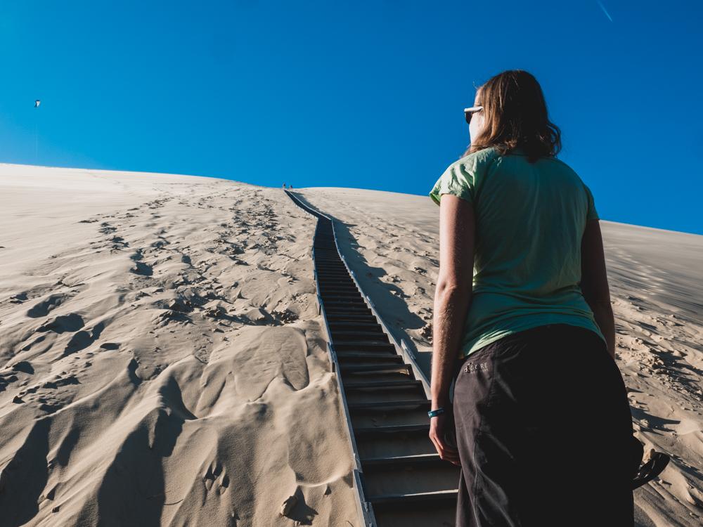 Bei der Dune du Pilat -  der grössten Düne Europas