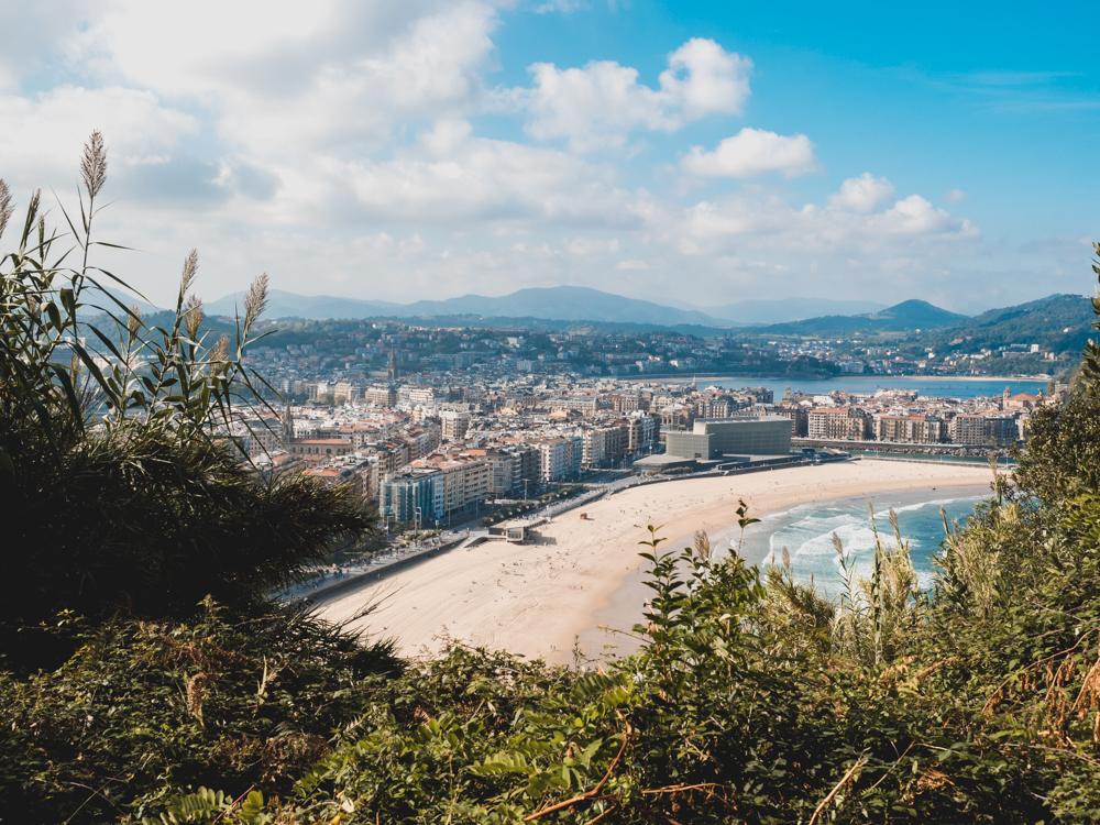 Sicht über San Sebastian