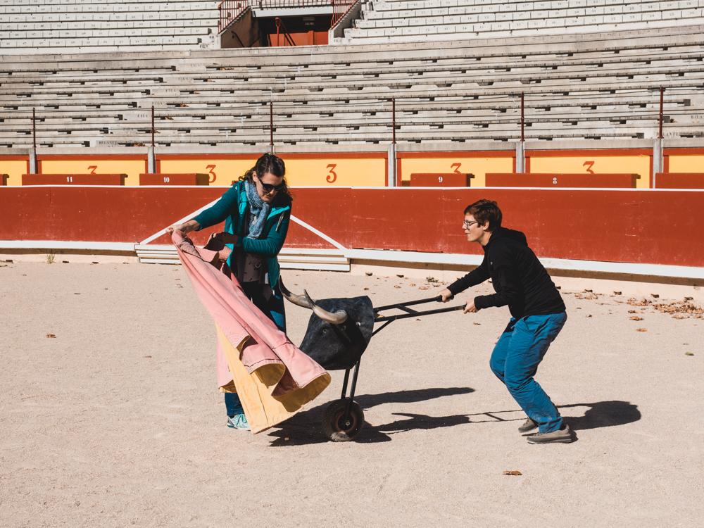 Die Stierkampfarena in Pamplona