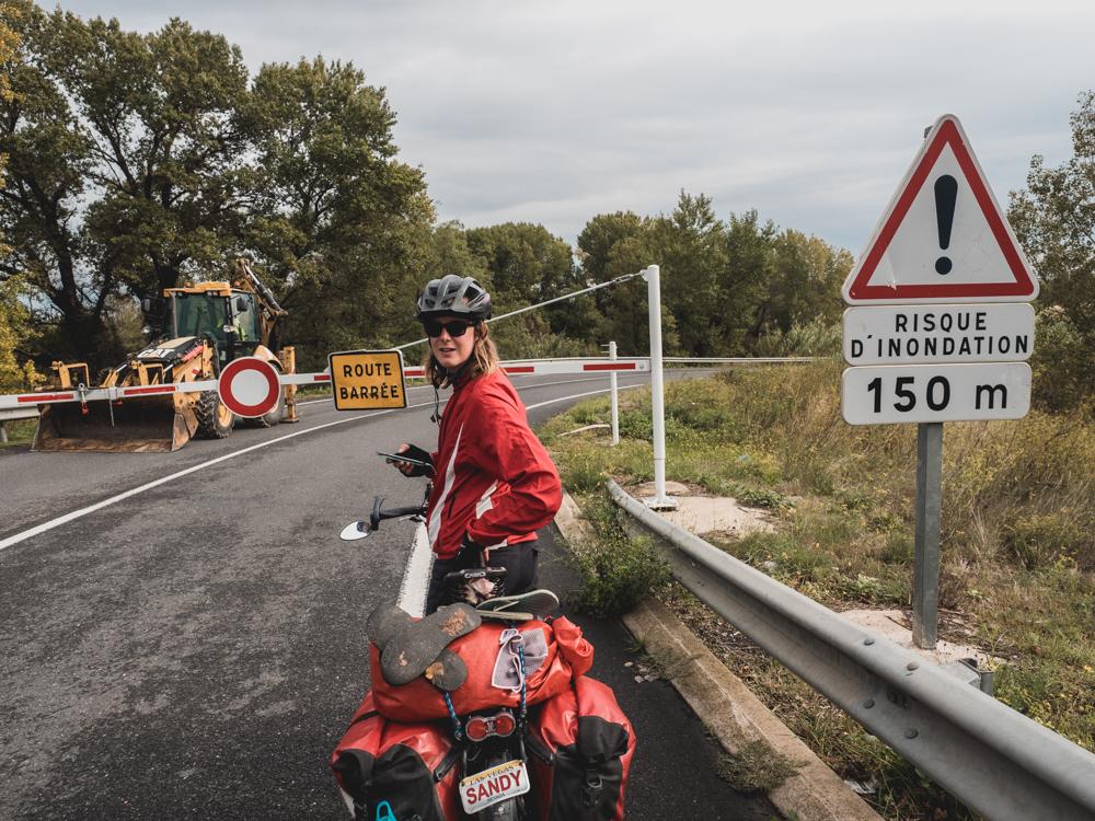 Die Unwetter in Südfrankreich machen uns einen Strich durch die Rechnung