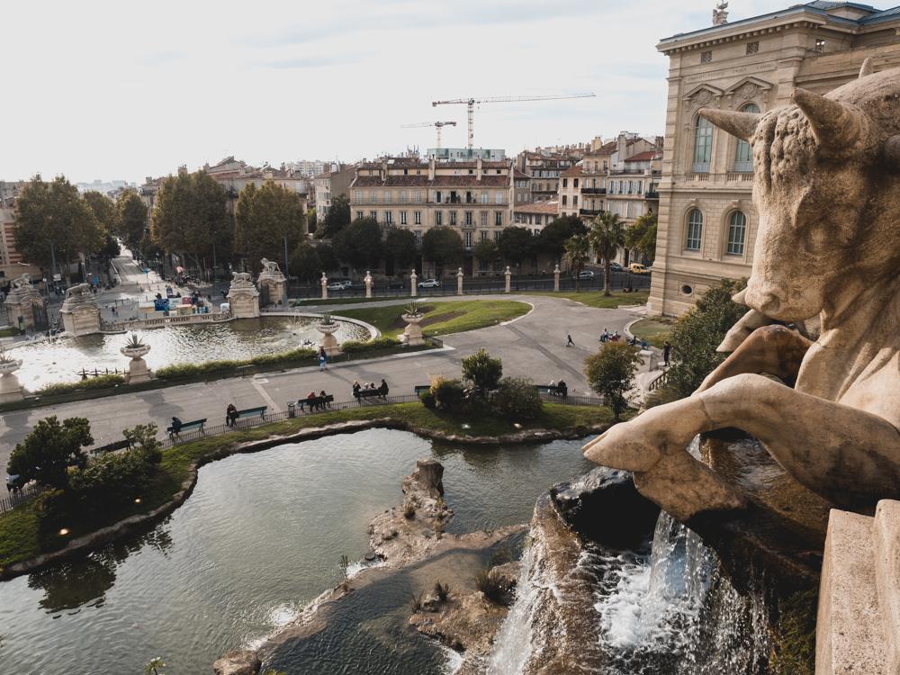 Der Palais Longchamps in Marseilles