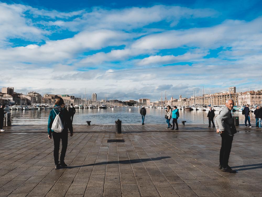 Beim alten Hafen von Marseilles