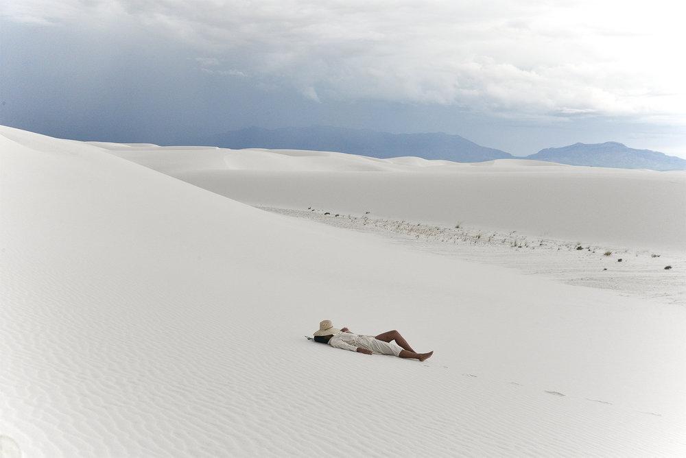 Laura in  The Playa Robe  in natural khadi