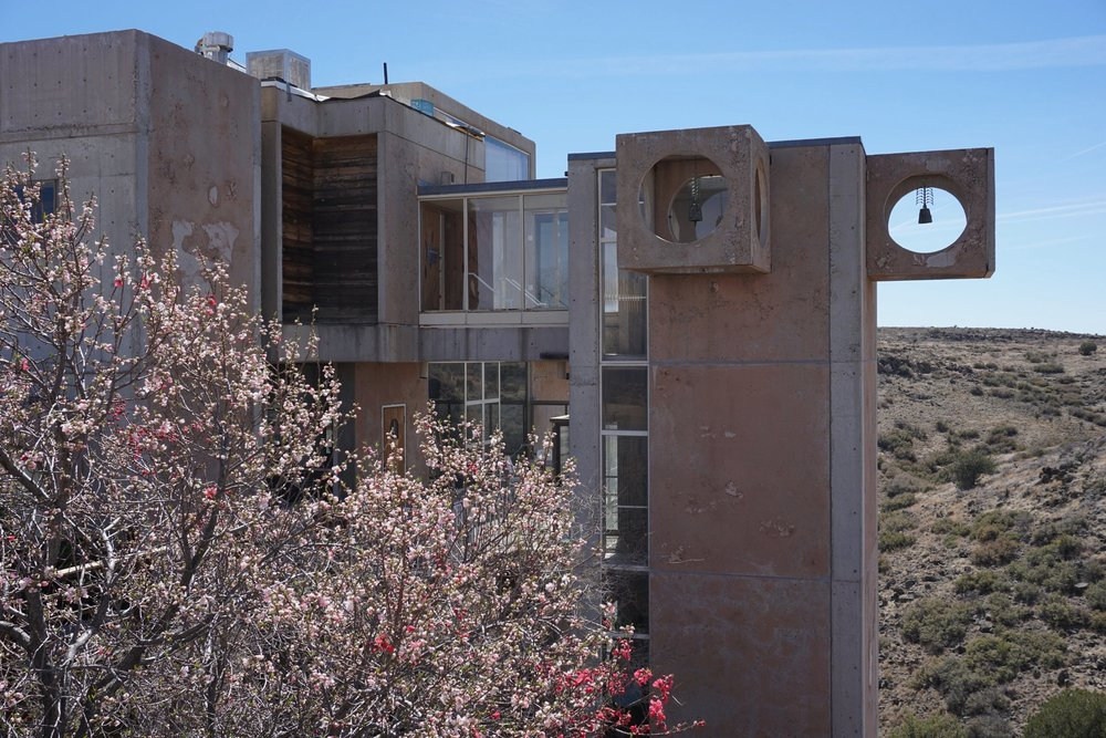 Exterior of  Arcosanti , an experimental town exploring the concept of arcology  - a combination of architecture and ecology