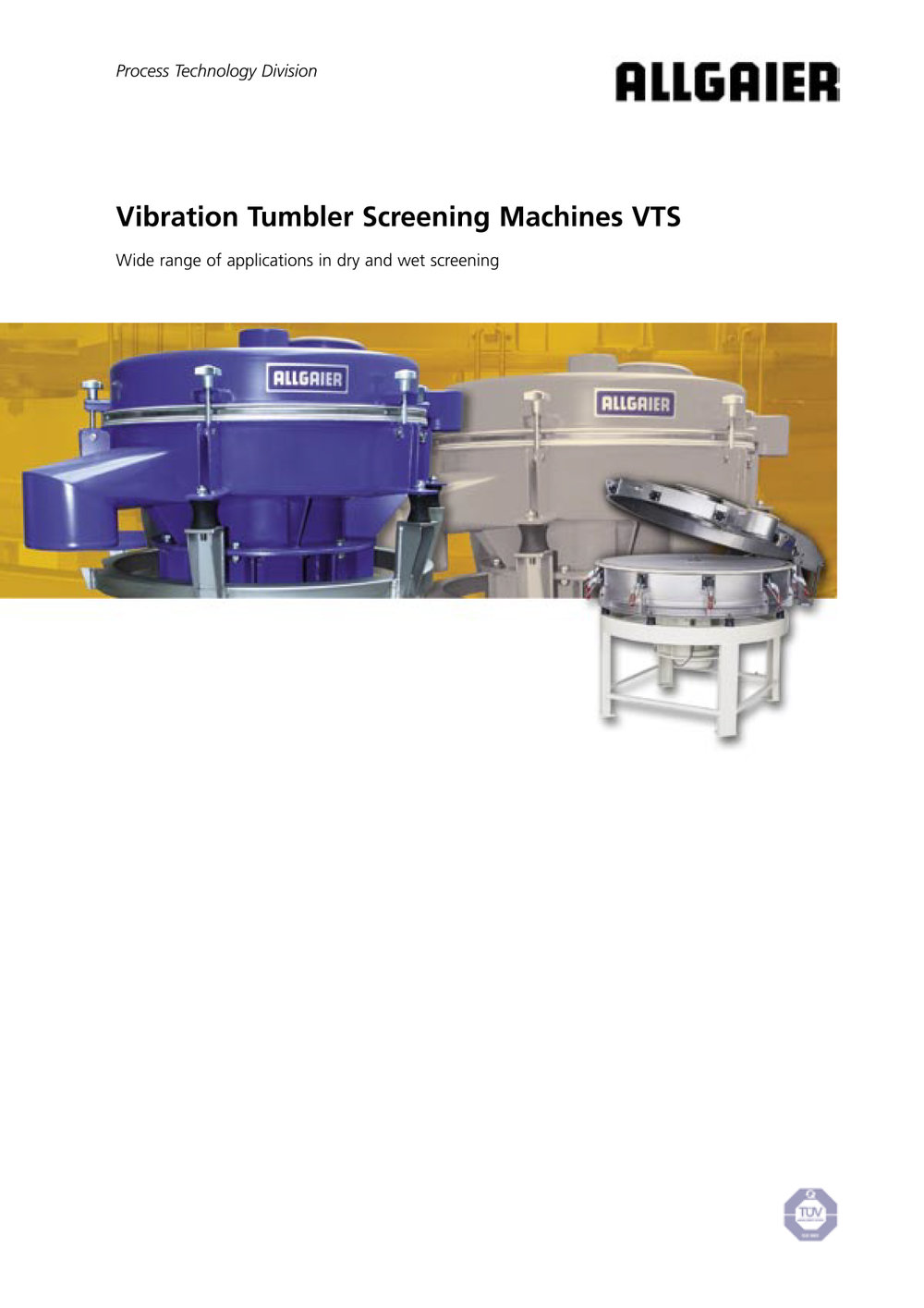 Vibration Tumbler Screening Machines VTS