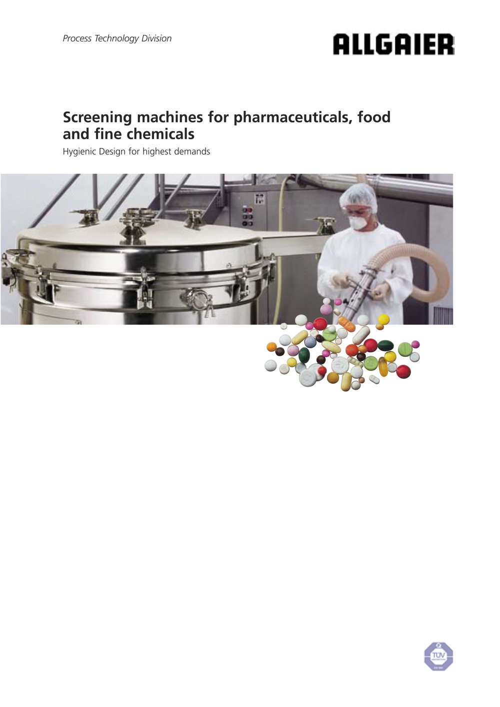 Screening machines for pharmaceuticals, food, and fine chemicals