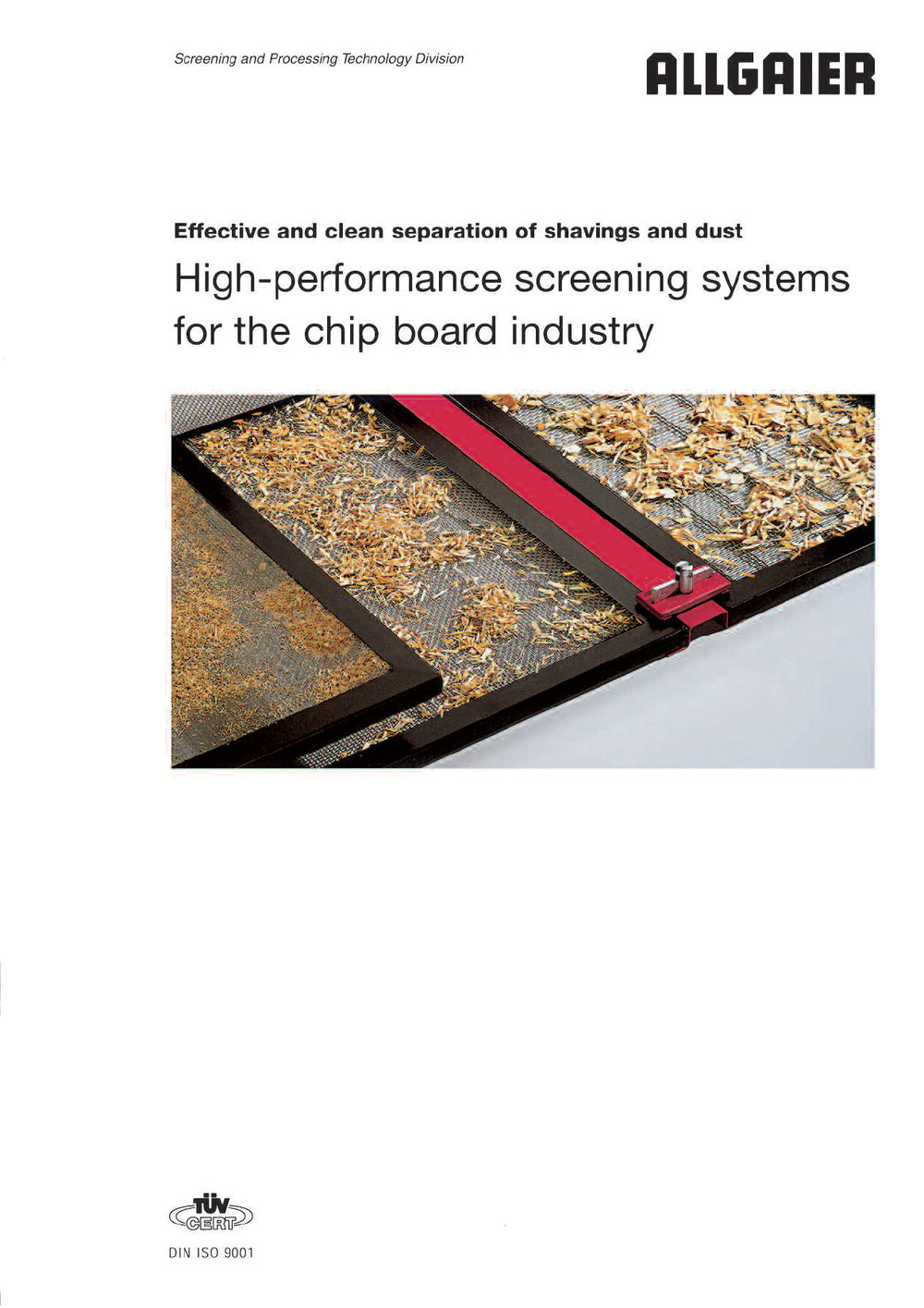 High-performance screening systems for the chip board industry
