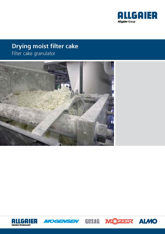 Drying moist filter cake