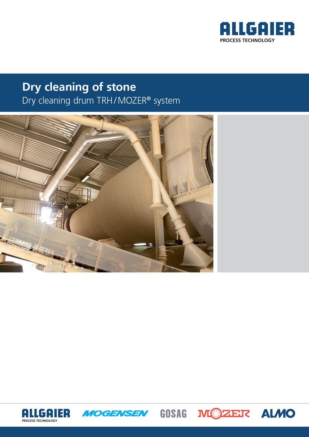 Dry cleaning of stone