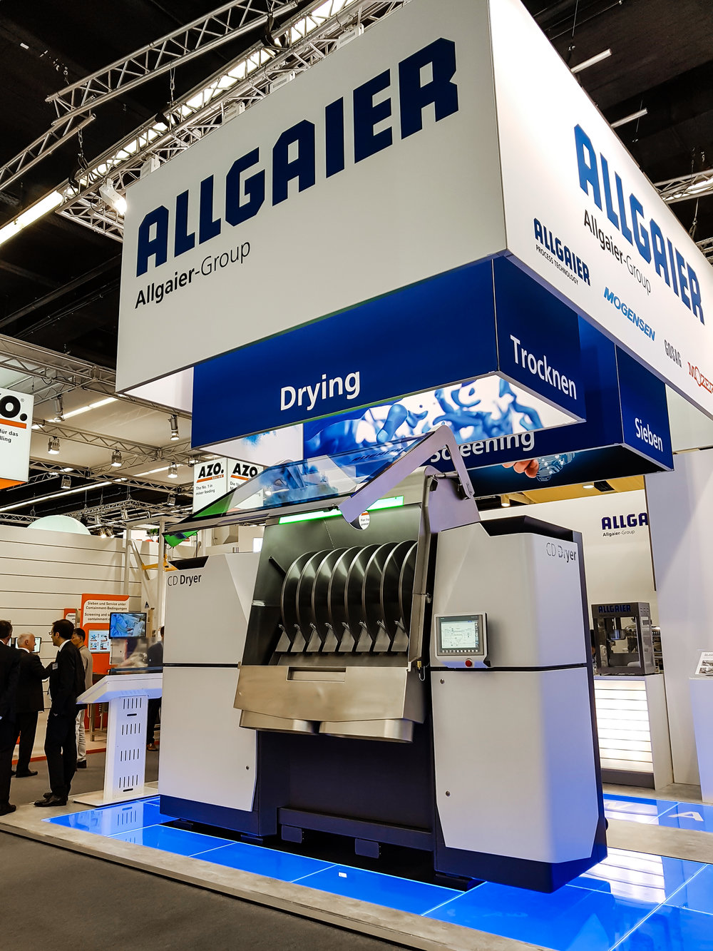 Allgaier CD Dryer at ACHEMA 2018 in Frankfurt am Main, Germany