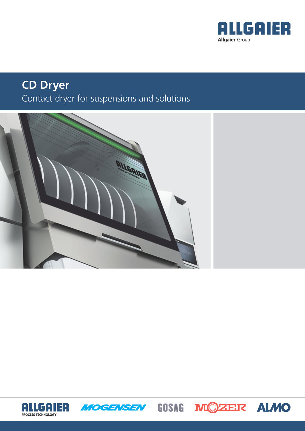 CD Dryer Drying/concentration of suspensions and solutions