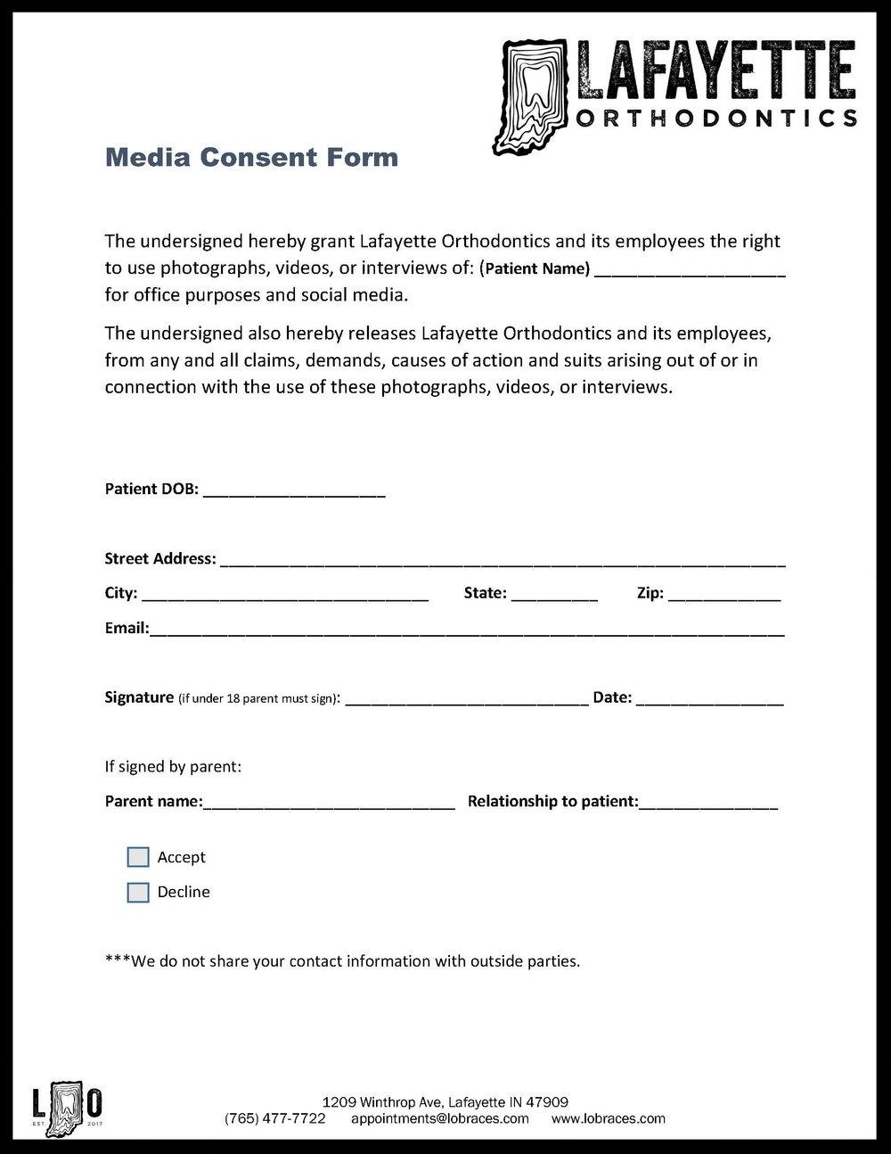 Media Consent Form