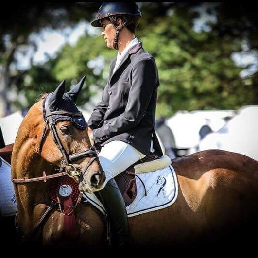 Koko Story has to THE cutest TB going around! So excited to see @robpalm07 pilot him into the placings at his first CCI 4* in Adelaide last weekend. Super groom @terrilh92 had him looking dapper for the prize giving in one of the new @esstockholm sound proof ear bonnets 😉 #equestrianstyle #equestrianfashion #eventing #equestrian