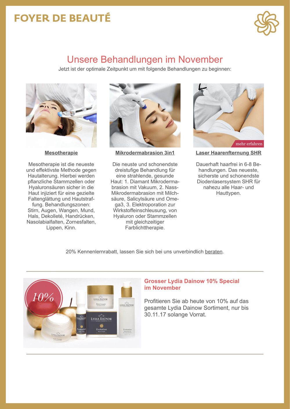 Lydia Dainow, Med Beauty, Lydia Dainow, Laser Haarentfernung, Hairremoval, Mikrodermabrasion, Mesotherapie
